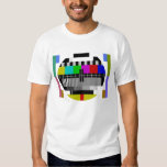 Test Card T-Shirt TV Pattern Playera