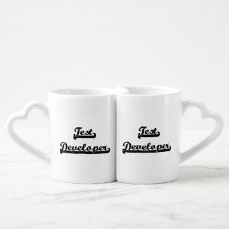 Test Developer Classic Job Design Couples' Coffee Mug Set