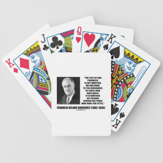 Test Of Our Progress Provide Enough F.D. Roosevelt Bicycle Playing Cards