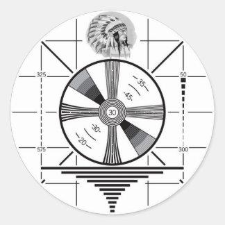 test pattern classic round sticker