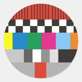 Test Pattern Design Classic Round Sticker