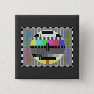 Test pattern novelty (BBC card G) Pinback Button