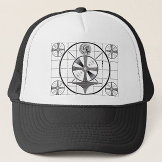 test pattern trucker hat