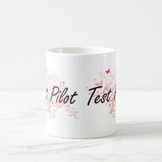 Test Pilot Artistic Job Design with Butterflies Coffee Mug
