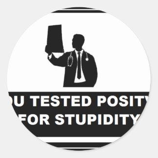 TEST POSITVIE CLASSIC ROUND STICKER