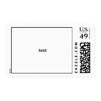 test postage stamp