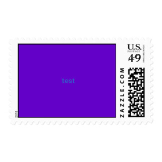 test postage stamps