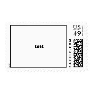 test stamp