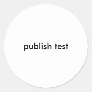test publish classic round sticker