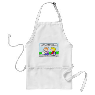 test school kids cheating adult apron