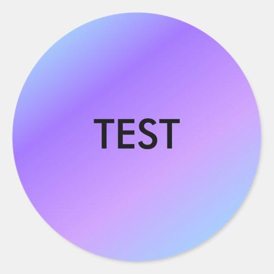 Test stickers