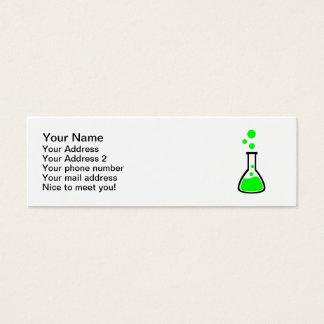 Test tube bubbles mini business card