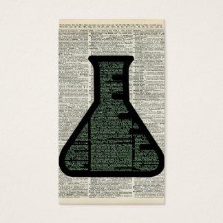 Test Tube Dictionary Art Business Card