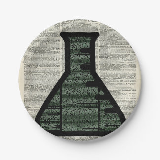 Test Tube Dictionary Art Paper Plate