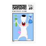 Test Tube Lab Rat Postage Stamp