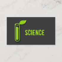 Test Tube Leaf Cool Scientist Business Cards