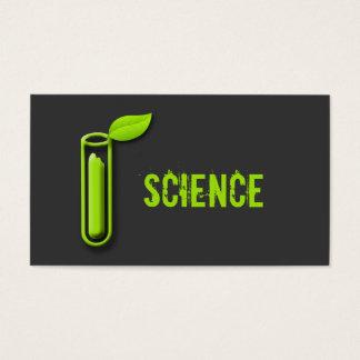 Test Tube Leaf Cool Scientist Business Cards