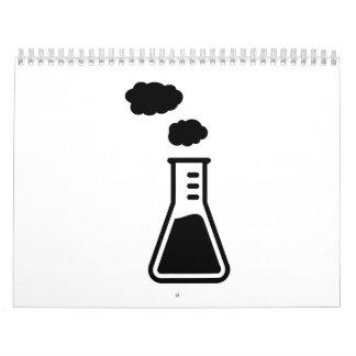 Test tube smoke calendar