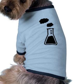 Test tube smoke pet t-shirt