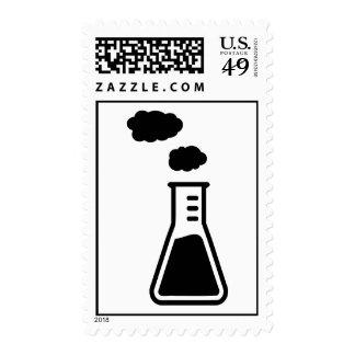 Test tube smoke postage stamp