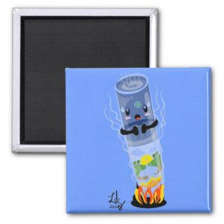 Test tube world square magnet