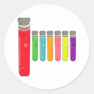 test tubes classic round sticker