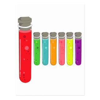 test tubes postcard