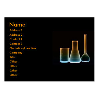 Test Tubes Profile Card Large Business Cards (Pack Of 100)