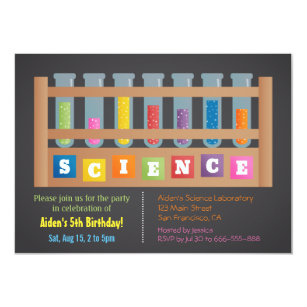 science party invitations zazzle