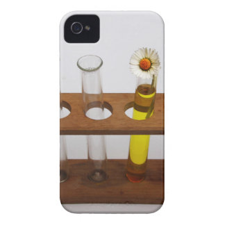 test tubes science lab equipment and flower iPhone 4 Case-Mate case