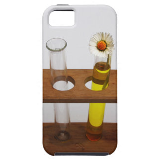 test tubes science lab equipment and flower iPhone SE/5/5s case