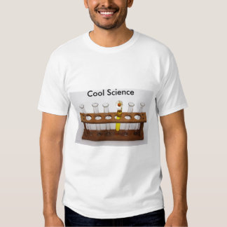 test tubes science lab equipment and flower t shirt