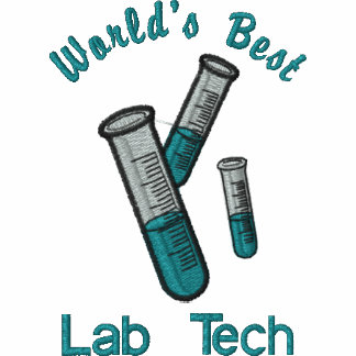 Test Tubes Science Lab Tech Embroidered Tees