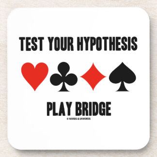 Test Your Hypothesis Play Bridge (Card Suits) Coasters