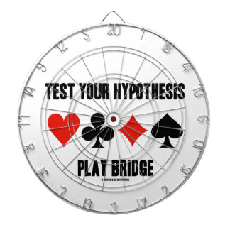 Test Your Hypothesis Play Bridge (Card Suits) Dartboard With Darts