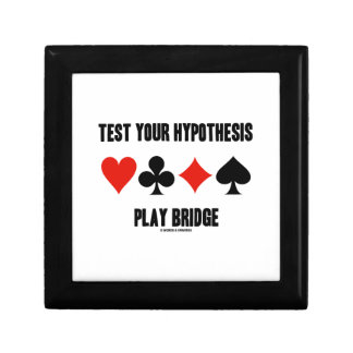 Test Your Hypothesis Play Bridge (Card Suits) Gift Box