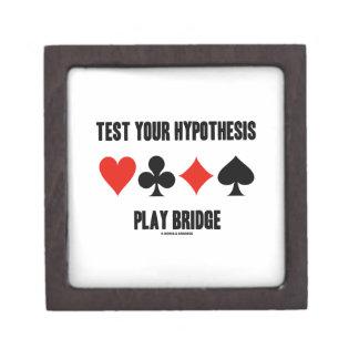 Test Your Hypothesis Play Bridge (Card Suits) Keepsake Box