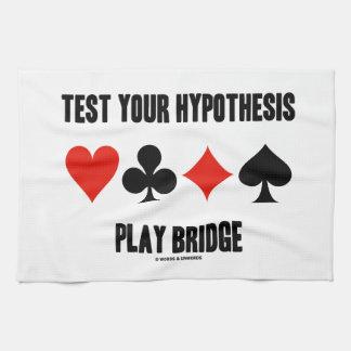 Test Your Hypothesis Play Bridge (Card Suits) Towel