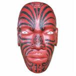 Testaferro maorí de la canoa de la guerra escultura fotográfica