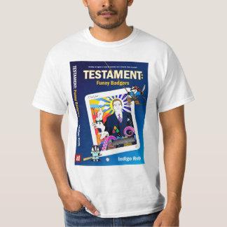 TESTAMENTO: Camiseta DIVERTIDA de la cubierta de l Playera