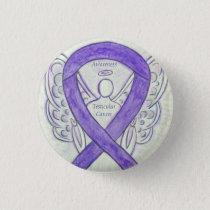 Testicular Cancer Angel Awareness Ribbon Pins
