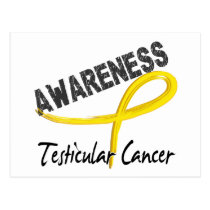 Testicular Cancer Awareness 3 Postcard
