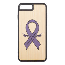 Testicular Cancer Awareness Carved iPhone 7 Plus Case