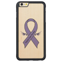 Testicular Cancer Awareness Carved Maple iPhone 6 Plus Bumper Case