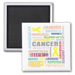 Testicular Cancer Awareness Collage Magnets