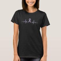 Testicular Cancer Awareness Heartbeat  Zodiac Gift T-Shirt