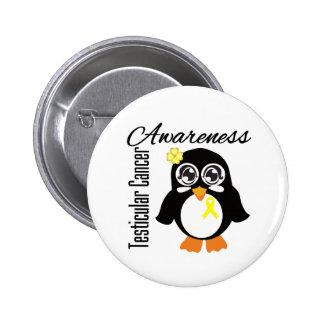 Testicular Cancer Awareness Penguin 2 Inch Round Button