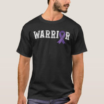 Testicular Cancer Awareness Products Purple Ribbon T-Shirt