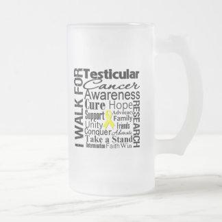 Testicular Cancer Awareness Walk 16 Oz Frosted Glass Beer Mug