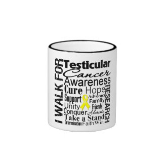 Testicular Cancer Awareness Walk Ringer Coffee Mug